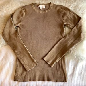 MICHAEL Michael Kors Crew Neck Sweater in Camel